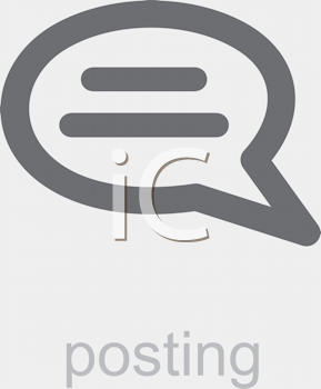 Royalty Free Clipart Image of a Posting Icon