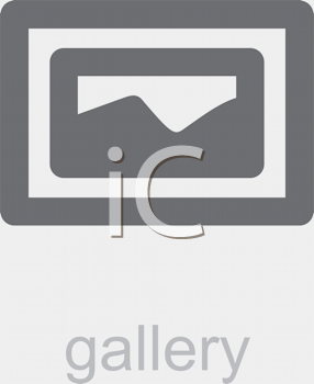 Royalty Free Clipart Image of a Gallery Icon