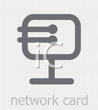 Royalty Free Clipart Image of a Network Card Icon