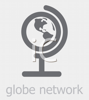 Royalty Free Clipart Image of a Globe Network Icon
