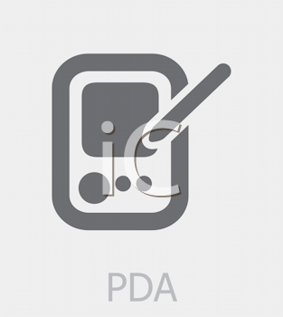 Royalty Free Clipart Image of a PDA