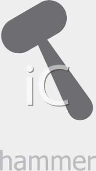 Royalty Free Clipart Image of a Hammer Icon