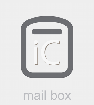 Royalty Free Clipart Image of a Mail Box Icon