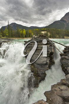 Royalty Free Photo of the Athabasca Falls in Canada