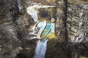 Royalty Free Photo of a Whirlpool in the Kutenej Gorge