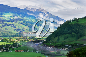 Royalty Free Photo of the Swiss Alps