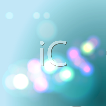 Royalty Free Clipart Image of a Soft Blue Background With Lights