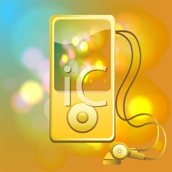 Royalty Free Clipart Image of a MP3 Player