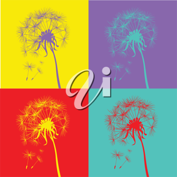 pop art dandelions