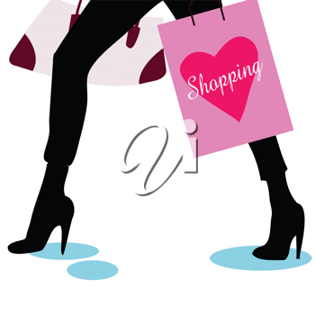 shopping bags and legs