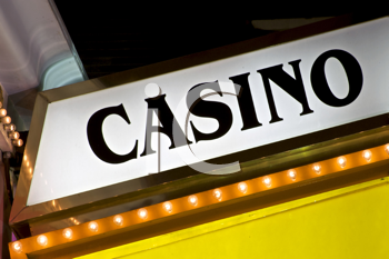 Royalty Free Photo of a Casino Sign