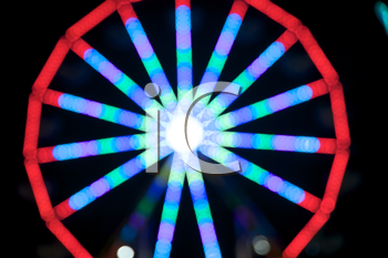 Royalty Free Photo of a Ferris Wheel Out of Focus