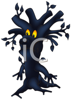 Royalty Free Clipart Image of a Spooky Dark Tree