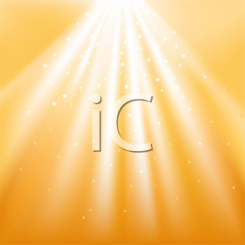 Royalty Free Clipart Image of Light and Stars