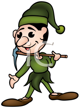 Royalty Free Clipart Image of a Dwarf