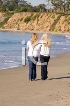 Royalty Free Photo of Women Walking on the Beach