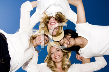 Royalty Free Photo of Four Woman Hugging