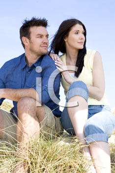 Royalty Free Photo of a Couple On the Dunes