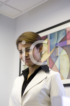 Royalty Free Photo of a Businesswoman In an Office