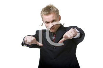 Royalty Free Photo of a Man Giving a Thumbs Down