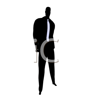 Royalty Free Clipart Image of a Guy in a Tie