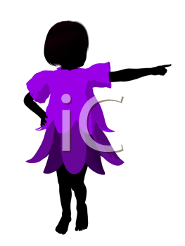Royalty Free Clipart Image of a Girl Fairy