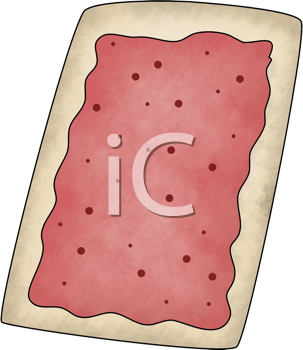 Royalty Free Clipart Image of a Pop Tart