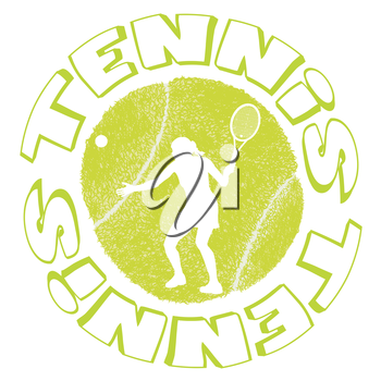 Tennis sport design with woman player silhouette