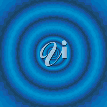 Abstract blue wavy background with concentric circles