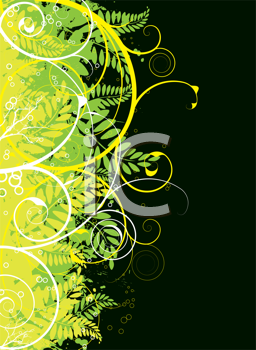 Royalty Free Clipart Image of a Green Edge on a Black Background