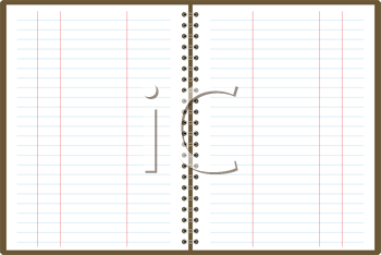 Royalty Free Clipart Image of a Binder With Graphs