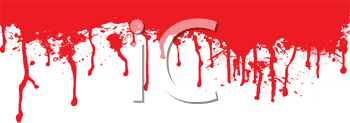 Royalty Free Clipart Image of a Blood Spatter Header