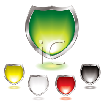 Royalty Free Clipart Image of a Shield Collection
