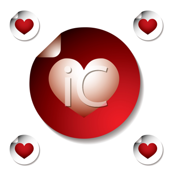 Royalty Free Clipart Image of Heart Stickers