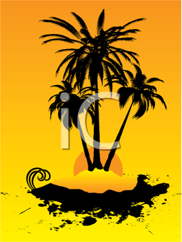 Royalty Free Clipart Image of a Remote Island