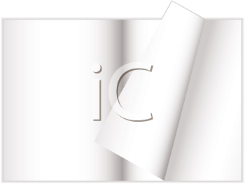 Royalty Free Clipart Image of a Magazine With a Curled Page
