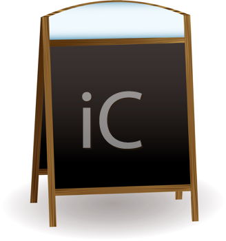 Royalty Free Clipart Image of a Double Side Chalkboard