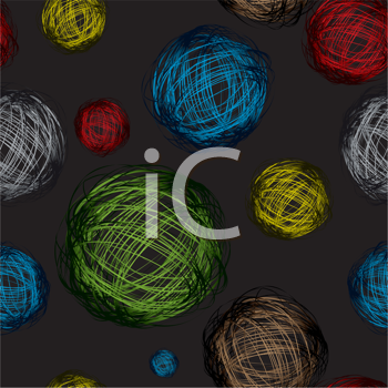 Royalty Free Clipart Image of Scribbles on Black