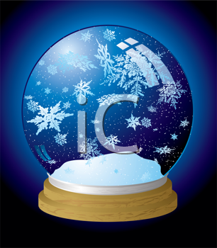 Royalty Free Clipart Image of a Snow Globe
