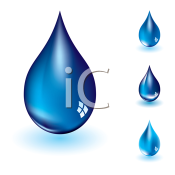 Royalty Free Clipart Image of Four Drops