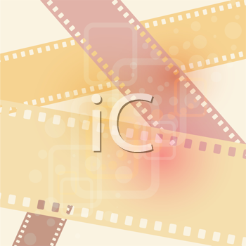 Royalty Free Clipart Image of a Film Strip Background