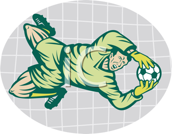 Royalty Free Clipart Image of a Soccer Goalie