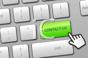 Royalty Free Clipart Image of a Contact Us Button