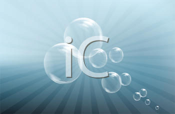 Royalty Free Clipart Image of a Background With Bubbles