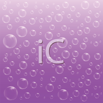 Royalty Free Clipart Image of Bubbles on Purple