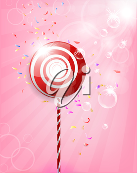Lollipop Shiny Background Illustration