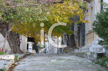 Royalty Free Photo of a Street in Athens Greece