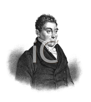 Royalty Free Photo of Gilbert du Motier, marquis de Lafayette (1757-1834) on engraving from the 1800s. French aristocrat and military officer. General in the American Revolutionary War and a leader of