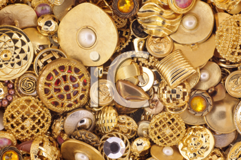 Royalty Free Photo of a Gold Button Background