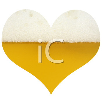 Royalty Free Photo of a Heart With Beer